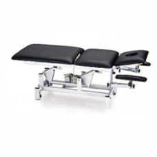 Medical Bed - Black (180 x 63 x 75) 'Chrome Frame'
