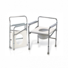 Commode Chair (Height Adjustable) - Steel