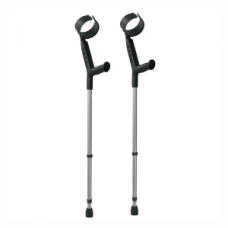 Elbow Crutches - Steel with Soft Handle (Silver)