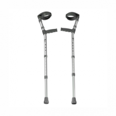 Elbow Crutches (Children) - Steel with Soft Handle (Black)