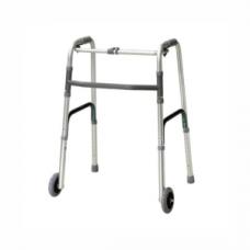 Walker with Wheels (1 Button Folding)
