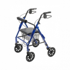 Rollator with 4 Wheels, Seat, Basket & Brakes
